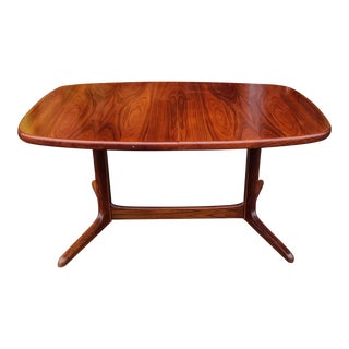 Vintage 1970s Danish Modern Rasmus Furniture Rosewood Dining Table W/ 2 Leaves For Sale