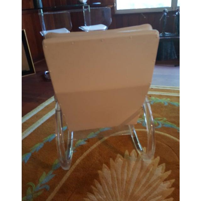 Charles Hollis Jones Vintage Lucite Rocking Chair - Image 5 of 8