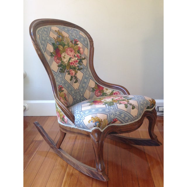 Victorian Ladies' Slipper Rocking Chair - Image 3 of 10