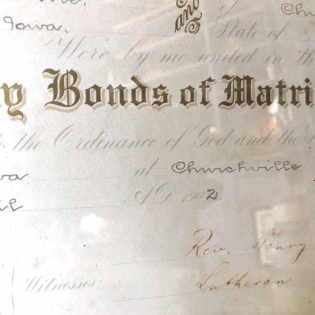 1900's Marriage Certificate - Image 7 of 9