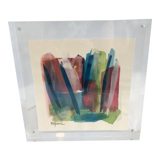 Original Art in Lucite by M Stancil For Sale