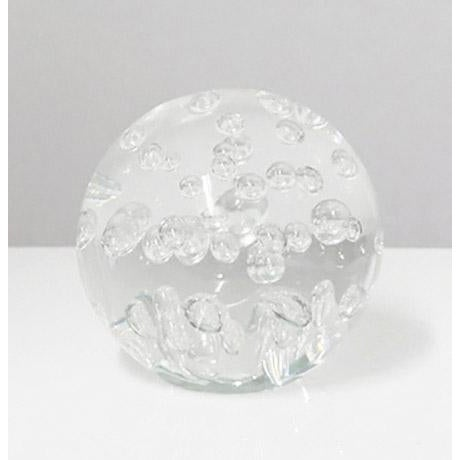 1970s Clear Random Bubble Sphere For Sale - Image 5 of 5