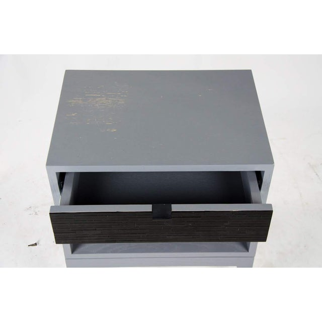 Black 1980s Mid-Century Modern Black Glass Tile Side Tables - a Pair For Sale - Image 8 of 13