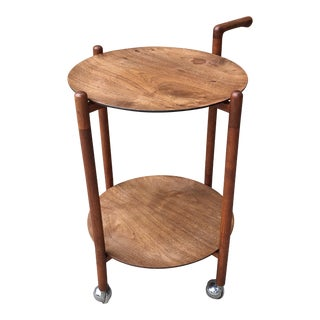 1960s Danish Modern Teak Serving Trolley With Removable Trays For Sale