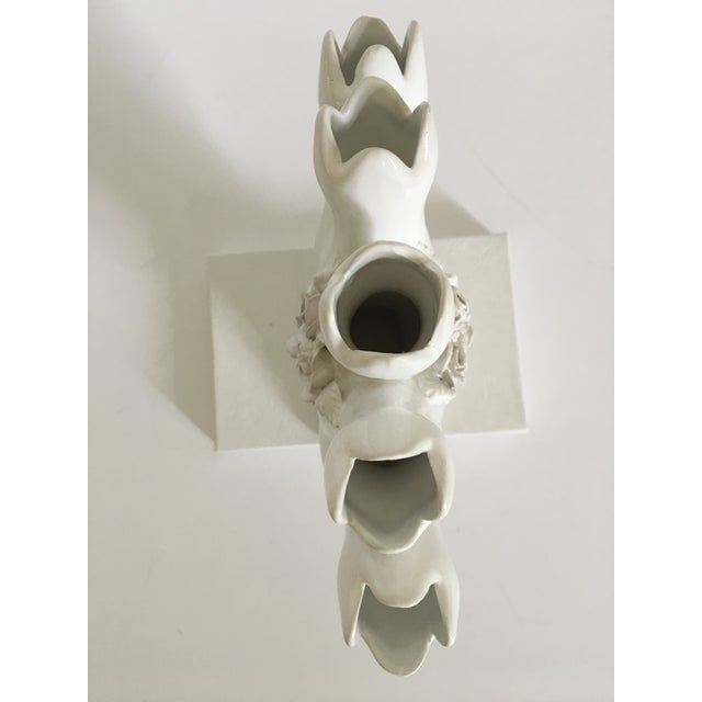 Vintage Portuguese Tulipiere/Five Finger Vase For Sale - Image 6 of 12
