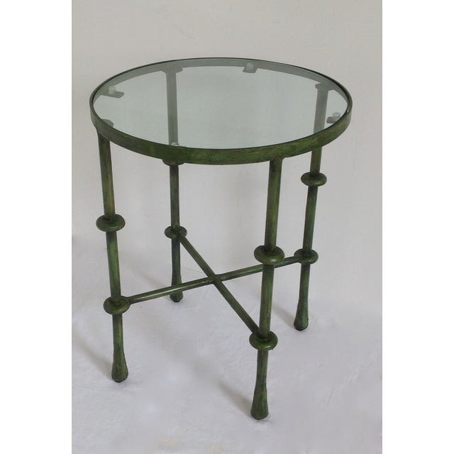 Giacometti-Style Forged Round End Table - Image 5 of 11