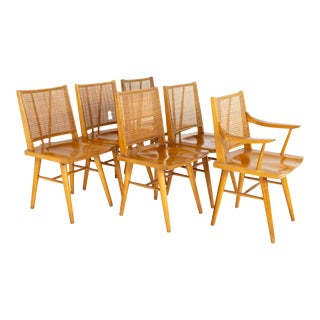 Russel Wright for Conant Ball Mid Century Blonde Dining Chairs - Set of 6 For Sale