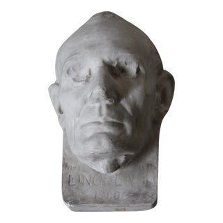 Plaster Abraham Lincoln Head/Mask For Sale