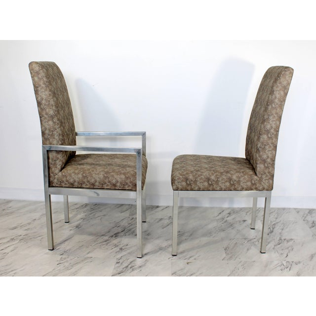 Mid-Century Modern Set of Six Milo Baughman for Dia Chrome Dining Chairs For Sale In Detroit - Image 6 of 10