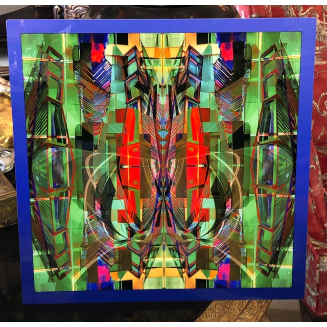 Dan Freund Modernist Mixed Media Photographic Modern Art Aluminum Picture For Sale - Image 4 of 5