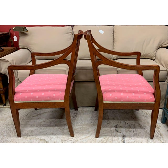 Wood 1990s Vintage Baker Williamsburg Collection Armchairs - A Pair For Sale - Image 7 of 12