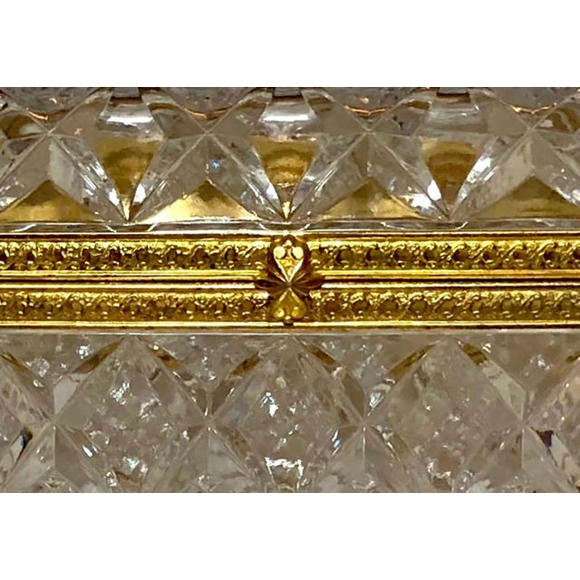 1950s Mid-Century French Large Crystal Box For Sale - Image 5 of 10