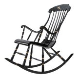 Image of 19th Century Vintage Swedish Gungstol Rocking Chair For Sale