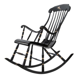 19th Century Vintage Swedish Gungstol Rocking Chair For Sale