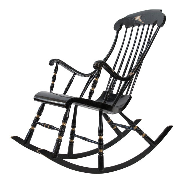 19th Century Vintage Swedish Gungstol Rocking Chair For Sale