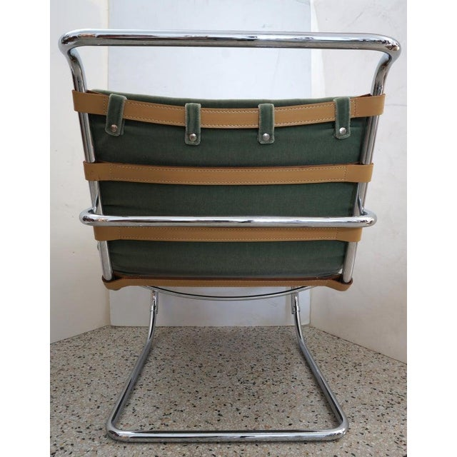 Vintage Art Deco Mies Van Der Rohe Lounge Chair by Gordon International For Sale - Image 9 of 13