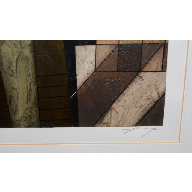 Abstract Modernist Abstract Oil Painting on Paper For Sale - Image 3 of 8