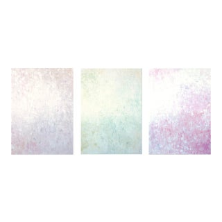 """""""Virgin Color Infinity #3,4,5"""" Triptych Original Abstract Oil Paintings on Canvas by Tim Hovde - Set of 3 For Sale"""