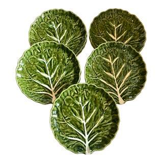 Portuguese Lettuce Leaf Plates - Set of 5