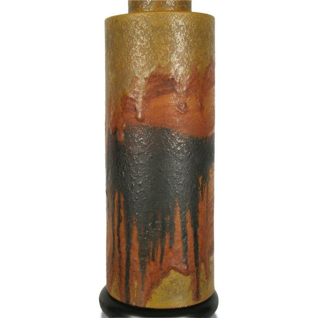 Marcello Fantoni Desert Tone Drip Glaze Ceramic Table Lamp For Sale In New York - Image 6 of 7