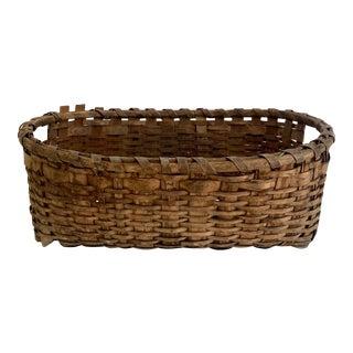 New England Splint-Wood Gathering Basket For Sale