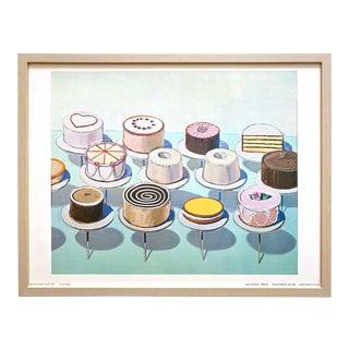 "Wayne Thiebaud Vintage 1969 Framed Fine Art Lithograph Pop Art Print "" Cake Counter "" 1962"