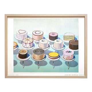 "Wayne Thiebaud Vintage 1969 Rare Framed Fine Art Lithograph Pop Art Print "" Cake Counter "" 1962 For Sale"