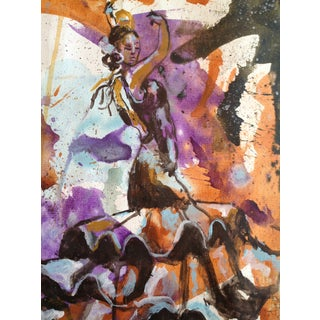 Flamenco Dancer Contemporary Abstract Painting For Sale