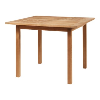Birmingham Square Teak Outdoor Dining Table For Sale