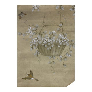 Summer Arbor Hand Painted Chinoiserie Panel For Sale