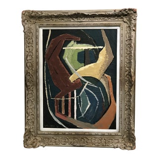 1967 Abstract Signed and Dated Painting For Sale