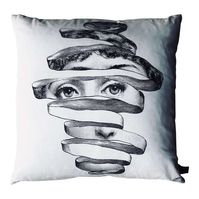 Modern Fornasetti Pillow From the Collection Theme and Variations For Sale