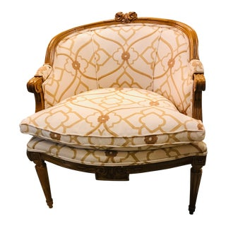 19th Century Vintage French Bergere For Sale