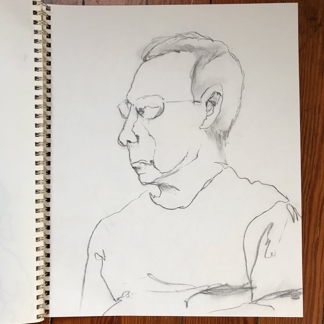 Portrait of a Man Drawing - Image 2 of 3