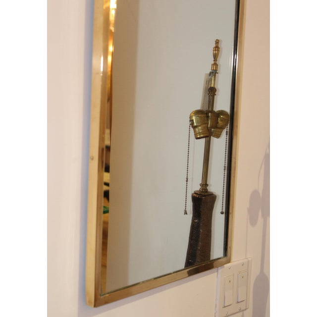 Brass Mid-Century Modern Italian Brass Arched Frame Mirrors For Sale - Image 7 of 10