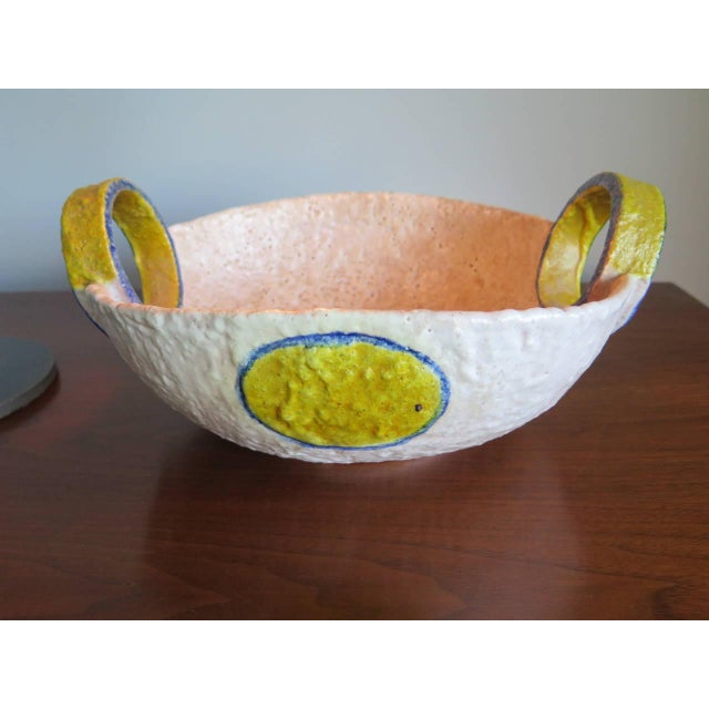 White Unusual Ceramic Vessel by Raymor, Italy For Sale - Image 8 of 10