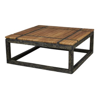 "1990s Post-Modern ""Soho"" Natural Inlay Square Coffee Table For Sale"
