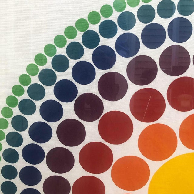 """Large, hard to find, Verner Panton fabric panel produced by Unika-Vaev in 1965. Titled """"Roulette"""", this was Verner..."""
