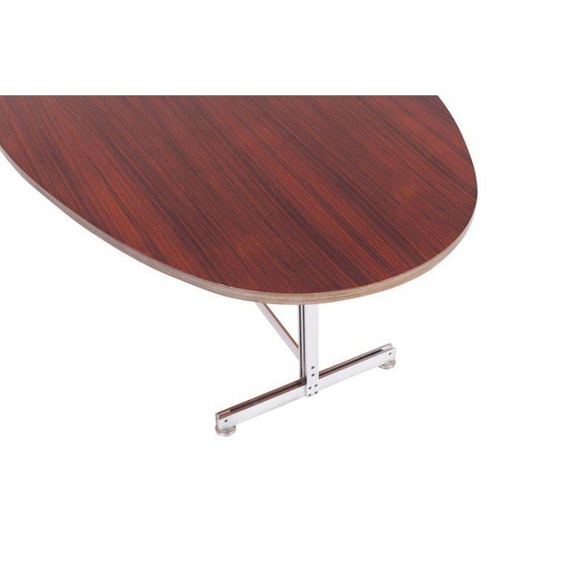 Brown Jules Wabbes Oval Dining Table for Mobilier Universel For Sale - Image 8 of 9
