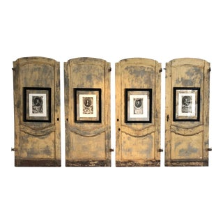 Set of Four 18th Century Italian Doors For Sale