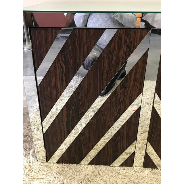 Rosewood and Mirrored Credenza For Sale - Image 5 of 6