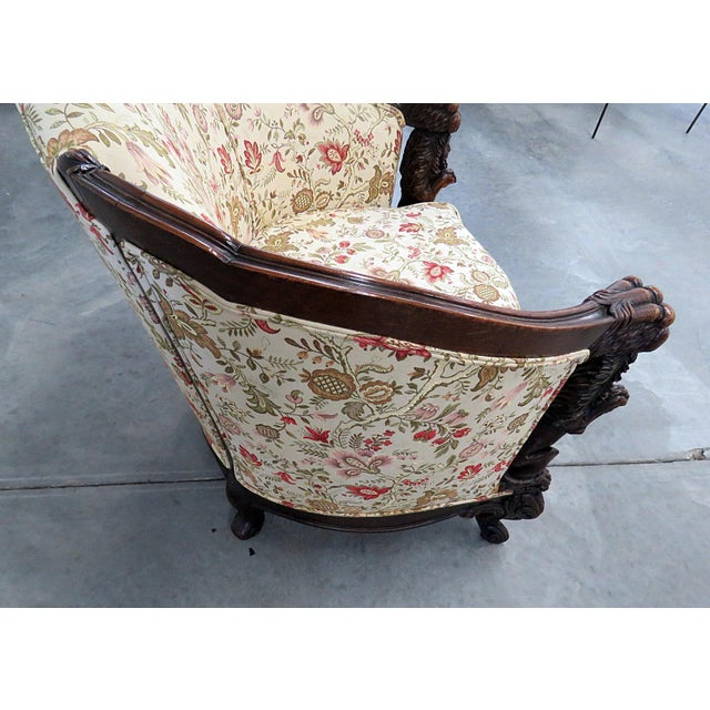 Carved Victorian Bergere For Sale - Image 10 of 11