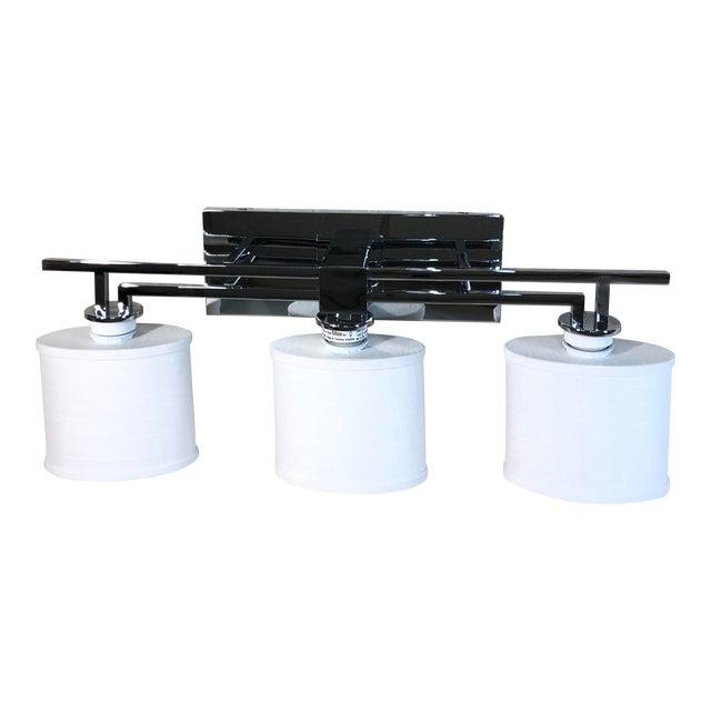 Justice Design 3-Light Polished Chrome Vanity Light For Sale