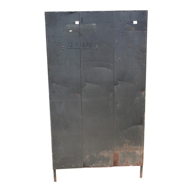 Gray Vintage Metal Lockers For Sale - Image 8 of 10