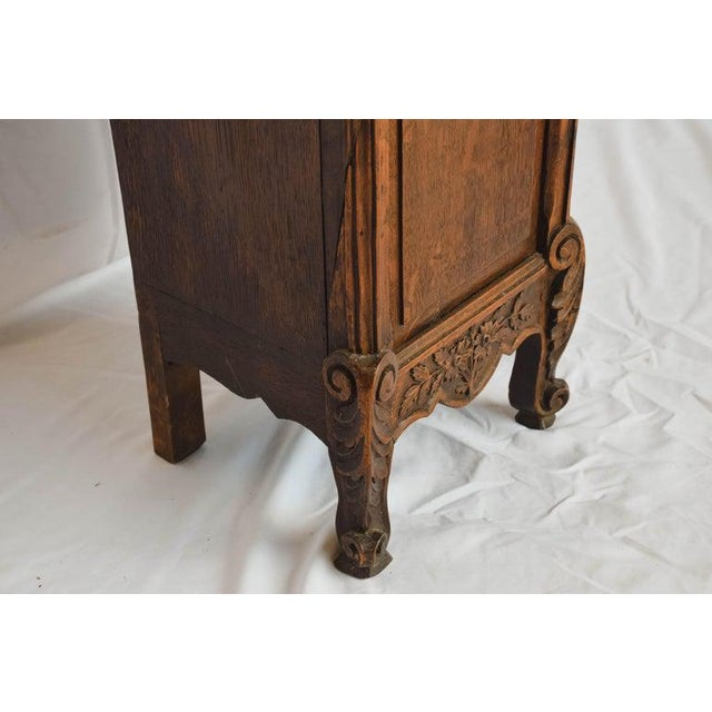 Carved 18th C French Lantern Clock Case With Movement For Sale - Image 12 of 13