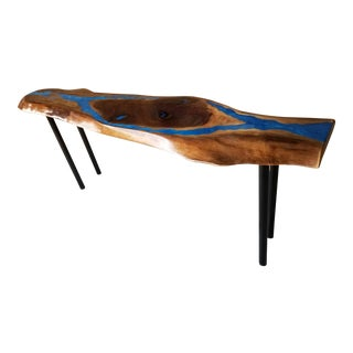 Handcrafted Original New Live Edge Console, Hall, Table