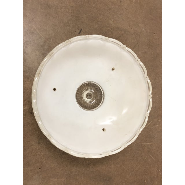 Vintage Art Deco White Frosted Glass Lamp Shade For Sale - Image 12 of 13
