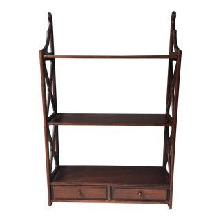 Butler Furniture Wooden Three Shelf Unit For Sale