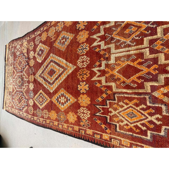 Berber Tribes of Morocco Moroccan Vintage Hand-woven Marrakech Tribal Rug, circa 1960 For Sale - Image 4 of 13