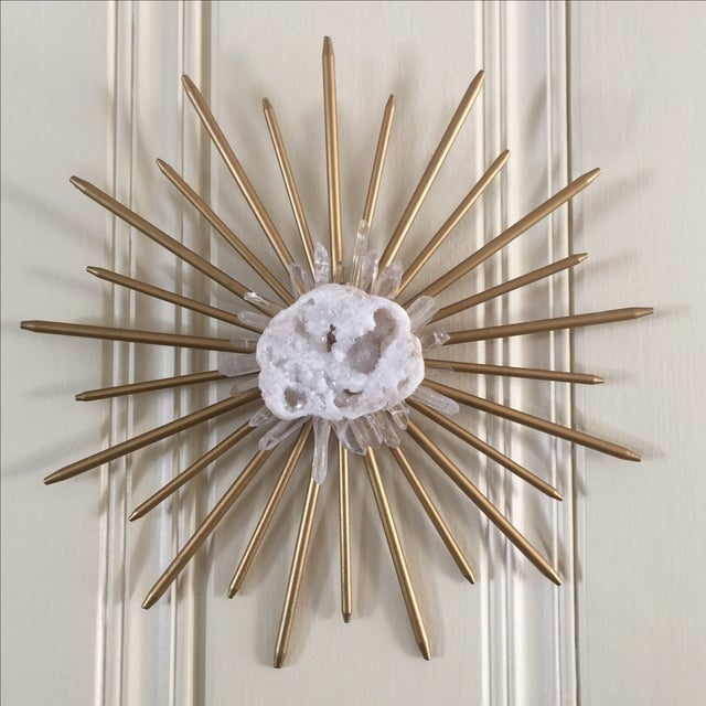 Mid-Century Natural Crystal Starburst Wall Decor - Image 7 of 9